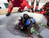 Under the Antarctic pack-ice with rebreathers!